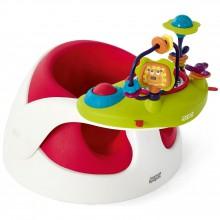 Siège évolutif Baby Snug rouge et plateau d'activités  par Mamas and Papas
