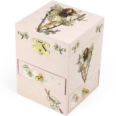 Boîte à bijoux musicale phosphorescente Cerisier F.Fairies 3 tiroirs  par Trousselier