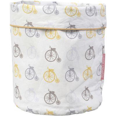 Panier de toilette en coton bio grand-bi Lucien (23 x 16 cm)  par Little Crevette
