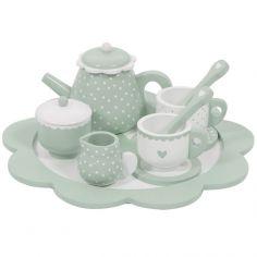 Dînette service à thé en bois mint