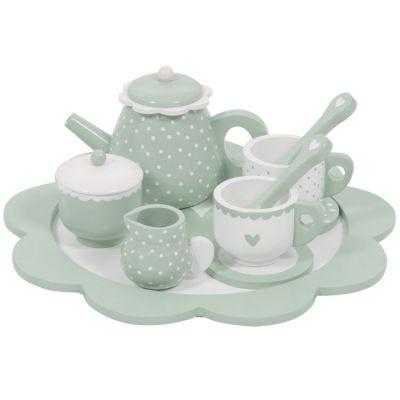 Dînette service à thé en bois mint  par Little Dutch
