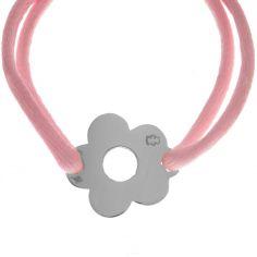 Bracelet cordon marguerite 15 mm (or blanc 750°)