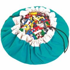 Sac à jouets 2 en 1 turquoise