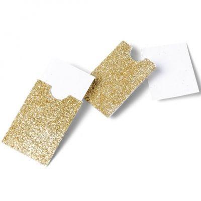 Pochettes cartes à paillettes Or (10 pièces)  par Arty Fêtes Factory