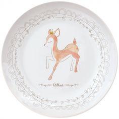 Assiette en porcelaine Faon (personnalisable)