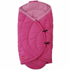 Couverture nomade Coo Coon fuchsia et rose (0-12 mois)