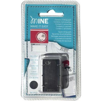 7c1e186af92d3 Lot de 2 recharges d encre pour tampon textile et papier