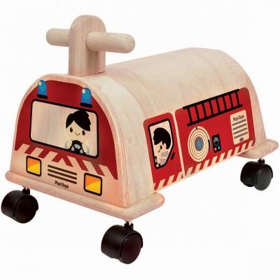 Porteur camion de pompiers  Plan Toys