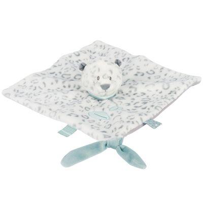 Doudou plat attache sucette léopard des neiges Léa (28 x 28 cm) Nattou