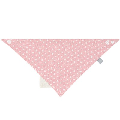 Bavoir bandana avec élément de dentition Lela rose clair