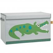 Coffre à jouet caisse de rangement Croco vert - Lässig