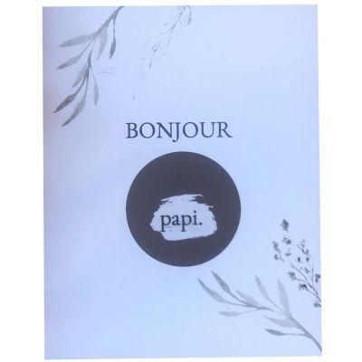 Carte annonce de grossesse à gratter Bonjour Papi (8 x 10 cm)