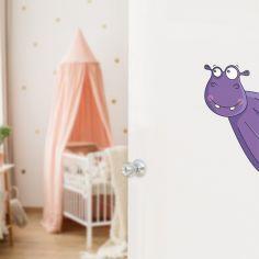 Sticker de porte hippopotame (côté droit)