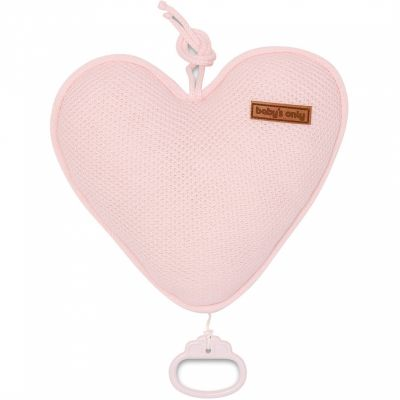 Coussin musical coeur Classic rose (26 cm) Baby's Only