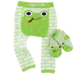 Legging et chaussettes Flippy la grenouille (6-12 mois)