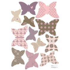 Stickers A3 butterfly inspiration by Magali Fournier (29,7 x 42 cm)