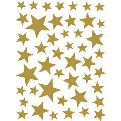 Stickers Etoiles dorées