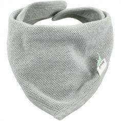 Bavoir bandana Grain gris