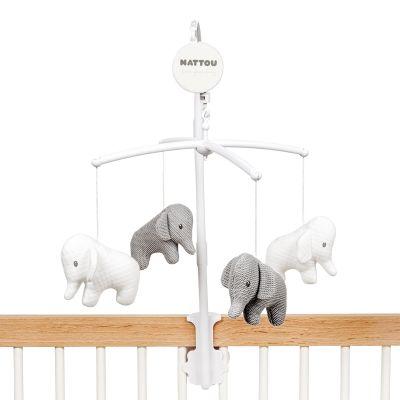 Mobile musical Tembo l'éléphant  par Nattou