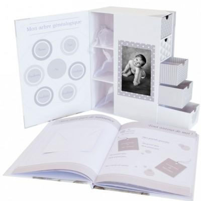 Coffret souvenirs et son livre de naissance My Little Bear  par Domiva