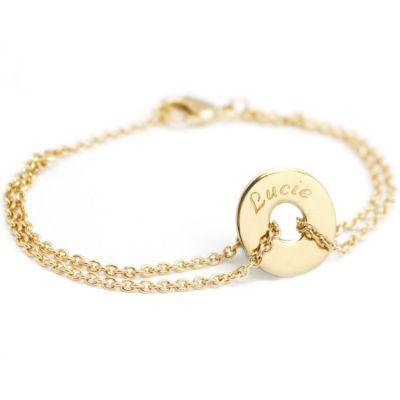 Bracelet Poème adulte (plaqué or jaune)  par Petits trésors