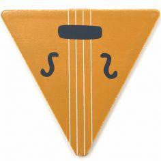 Lettre décorative V comme violon