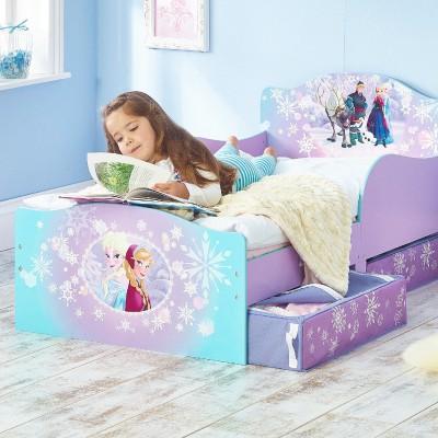 lit enfant avec rangement la reine des neiges (70 x 140 cm)