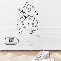 Sticker mural Milk (33 x 42 cm)