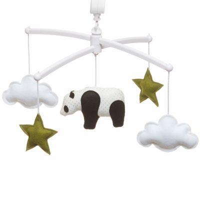 Mobile musical panda vert (mélodie au choix)  par Pouce et Lina