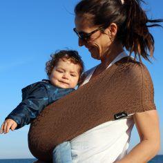 Porte bébé Easy Sling Wacotto marron cannelle (taille L)