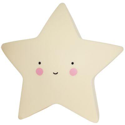 Petite veilleuse étoile jaune (14 cm)  par A Little Lovely Company