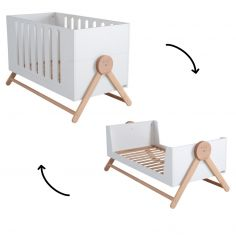 Lit bébé évolutif Swing blanc (70 x 140 cm)