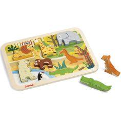 Puzzle à encastrement Zoo (7 pièces)