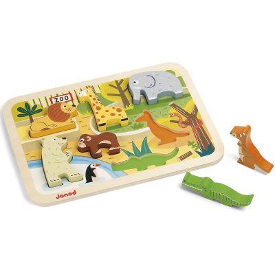 Puzzle à encastrement Zoo (7 pièces)  par Janod