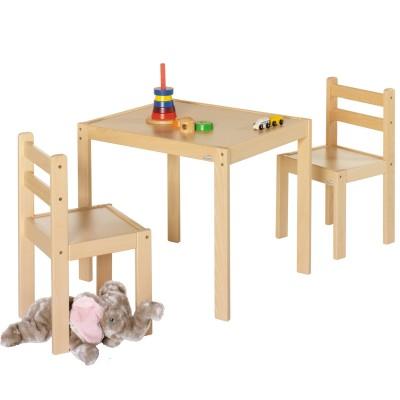 Ensemble table et chaises kalle naturel 3 pices geuther - Table winnie l ourson et chaise ...