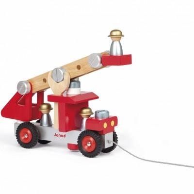 Camion de pompiers à construire  par Janod