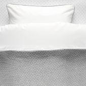 Housse de couette et taie gris clairTricoloudoux (100 x 140 cm) - Noukie's