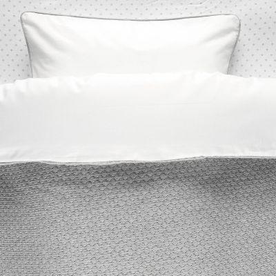 housse de couette et taie gris clairtricoloudoux 100 x 140. Black Bedroom Furniture Sets. Home Design Ideas
