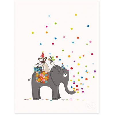 Affiche Confettis (30 x 40 cm)  par Série-Golo