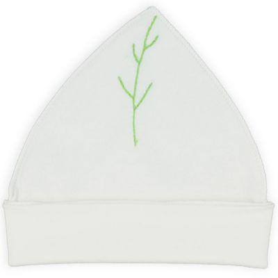 Bonnet blanc écru maille interlock coton bio (3-6 mois)  par Graine d'amour