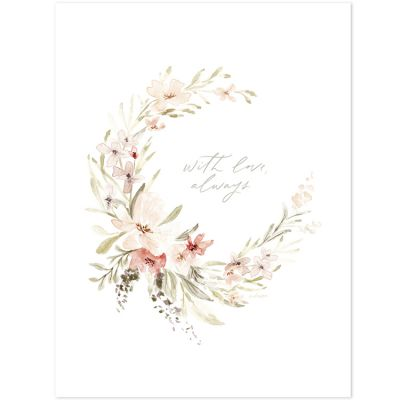 Affiche fleurie With love, always Appoline (30 x 40 cm)  par Lilipinso