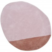 Tapis coton stone mistyrose (80 x 81 cm) - Lilipinso