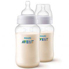 Lot de 2 biberons anti-colique avec valve airfree (330 ml)