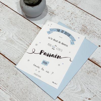 Carte Demande De Parrain 10 X 15 Cm
