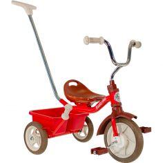 Tricycle Passenger avec panier arrière amovible rouge