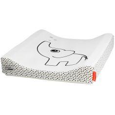 Matelas à langer en tissu déperlant Dots éléphant blanc (50 x 65 cm)