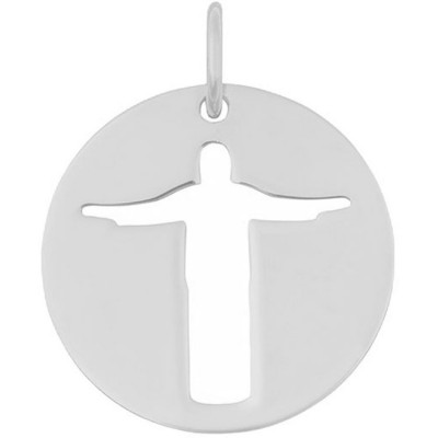 Médaille Esquisses Christ de Rio 18 mm (or blanc 750°) Maison La Couronne