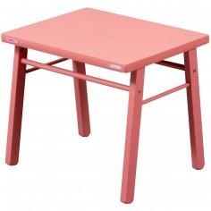 Table d'enfant en bois massif laqué rose