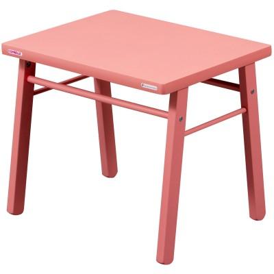 Table d'enfant en bois massif laqué rose  par Combelle