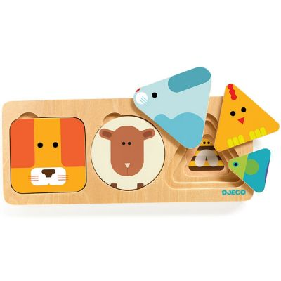 Puzzle superposable AnimaBasic (3 pièces) Djeco